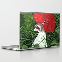 raccoon Laptop & iPad Skins featuring Raccoon by Erik Krenz