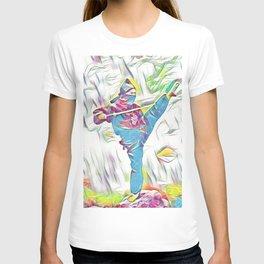 Colourful Samurai Ninja Warrior  T-shirt