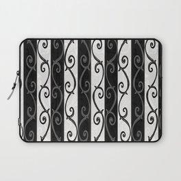 Burtonesque Stripes and Swirls.. Laptop Sleeve