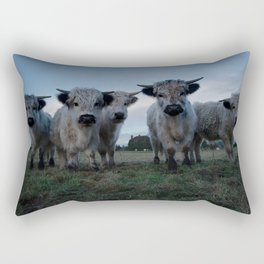 White High Park Cow Herd Rectangular Pillow