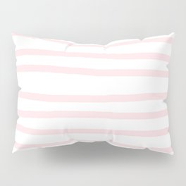 Simply Drawn Stripes in Pink Flamingo Pillow Sham