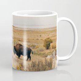 Bison Bull on Antelope Island Coffee Mug