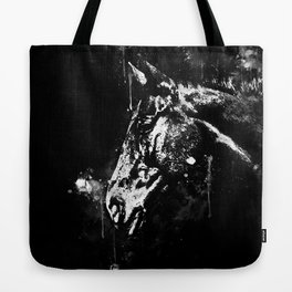 horse splatter watercolor black white Tote Bag