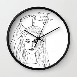 Coffee crown Wall Clock