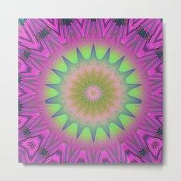 Cotton Candy Mandala Metal Print