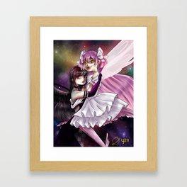 Madoka and Homura Framed Art Print
