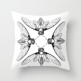 Cicada Rhythms Throw Pillow