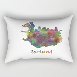 Iceland in watercolor Rectangular Pillow