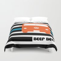 vw bus Duvet Covers featuring VW Bus by see BOLD