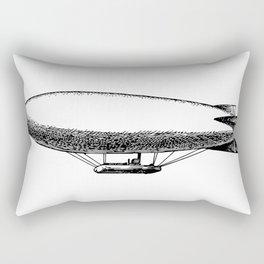Flying Blimp Detailed Illustration Rectangular Pillow