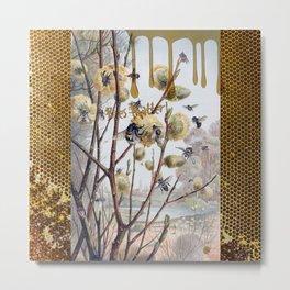 Bees Matter Metal Print