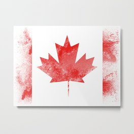 Canada flag isolated Metal Print