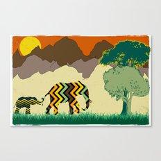Elephant Park 1 Canvas Print