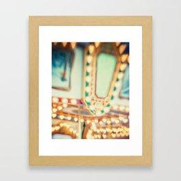 I Heart Carousels Framed Art Print