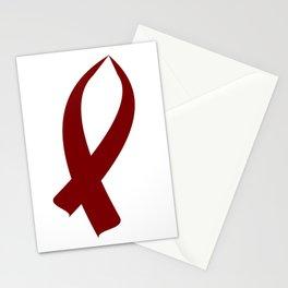 Awareness Ribbon (Burgundy) Stationery Cards