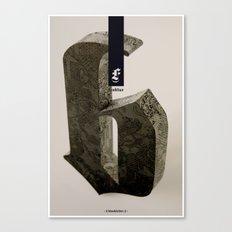 Blackletter Canvas Print