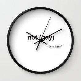 not gay Wall Clock