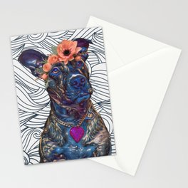 Lola The Pit Bull Stationery Cards