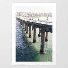 Redondo Pier, CA Art Print