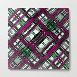 Strange Abstract Synapses Metal Print