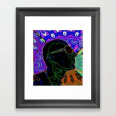 profile face abstract Framed Art Print