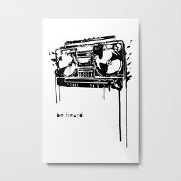 boombox be heard stereo ghetto blaster radio noise Metal Print