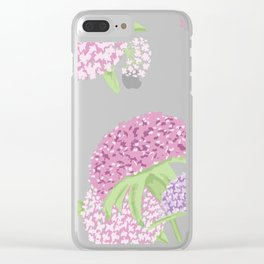 Beautiful hydrangeas Clear iPhone Case