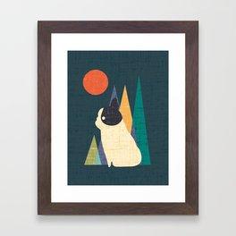 Waiting for You French Bulldog Framed Art Print