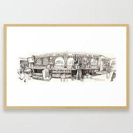 de vere's irish pub, davis Framed Art Print
