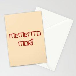 motto in latin -memento mori 2 Stationery Cards