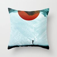arya stark Throw Pillows featuring Found in isolation by Stoian Hitrov - Sto