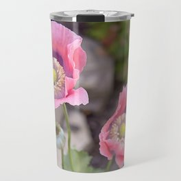 Two Pink Poppies Travel Mug