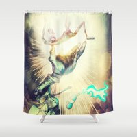 dreamcatcher Shower Curtains featuring Dreamcatcher by Ricardo Ajcivinac