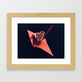 FLY WITH THE CRANE BIRD Framed Art Print