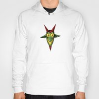 baphomet Hoodies featuring Happy Baphomet by Lowell Isaac