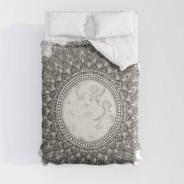 Black and White Moon Mandala Comforters