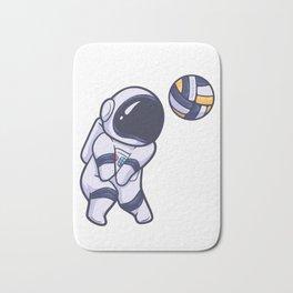 Astronaut Space Volleyball Sport Bath Mat