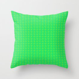Turquoise Mint Green and Yellow Pines Points Abstract Country Design Pattern Throw Pillow