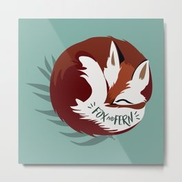 Fickle the Fox Metal Print