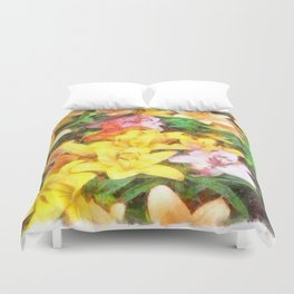 Lilies Love and Light Duvet Cover