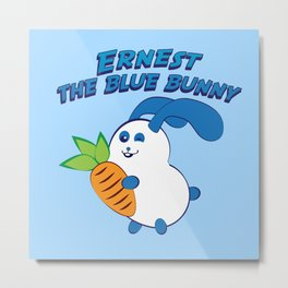 Ernest the blue bunny Metal Print