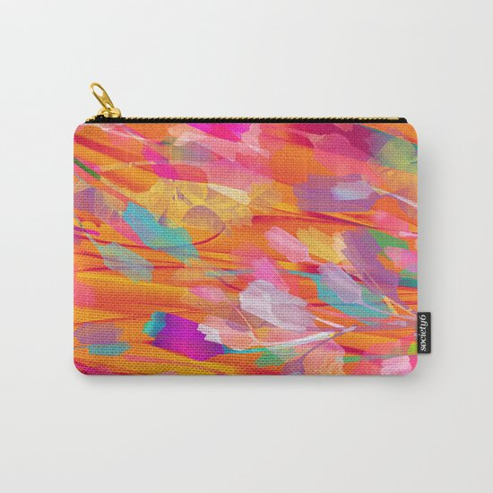 Floral abstract(55) Carry-All Pouch
