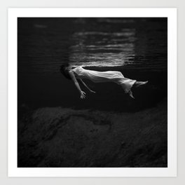 Lady in the Water Art Print