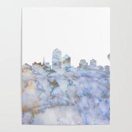 Albuquerque City Skyline Poster