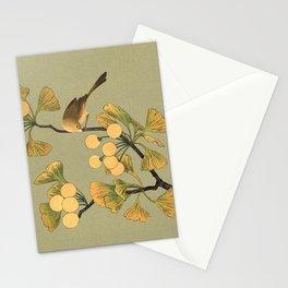 Bird in Ginkgo Tree Stationery Cards