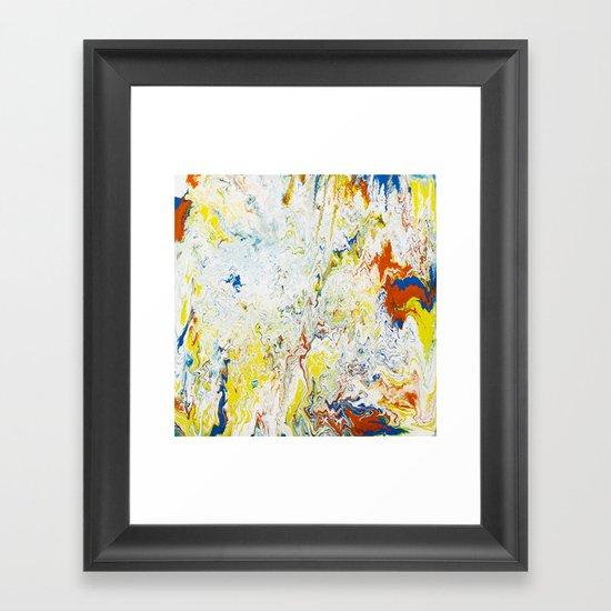 Gravity Painting 24 Framed Art Print