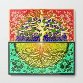 Tree of Life Heart Metal Print