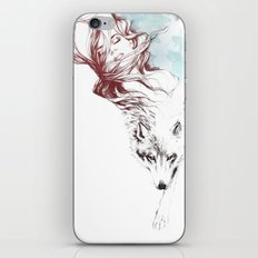 Dreaming about wolves iPhone & iPod Skin