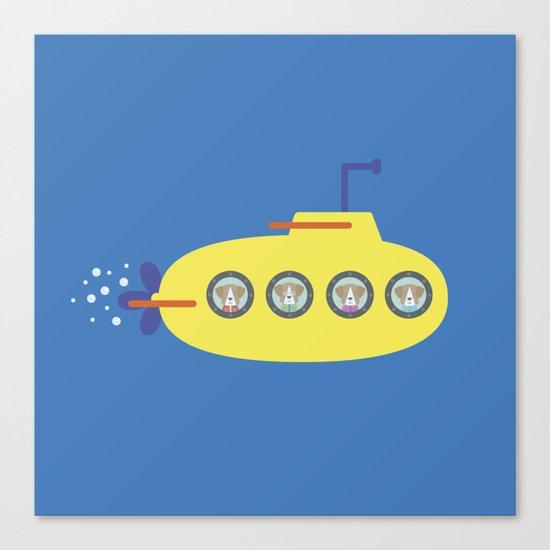 The Beagles - Yellow Submarine Canvas Print