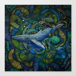 Whale Ocean Canvas Print